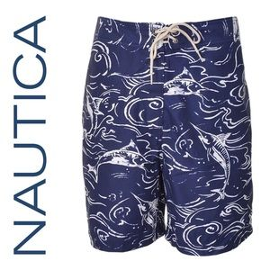 Nautica Mens Marlin Print Board-shorts